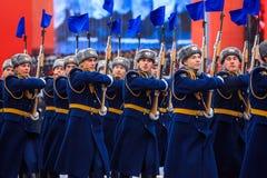 A parada dedicou ao 7 de novembro de 1941 no quadrado vermelho em Moscou 75th aniversário Fotos de Stock