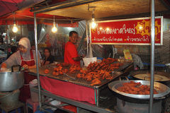 Parada del alimento de Halal en Hat Yai Imagen de archivo