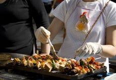 Parada del alimento de la calle Fotos de archivo libres de regalías