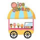 Parada del carro y un vector del helado stock de ilustración