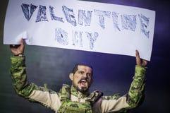 Parada del día de tarjetas del día de San Valentín los fondos de la guerra Fotografía de archivo libre de regalías