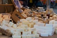 Parada del mercado con el jabón Fotografía de archivo