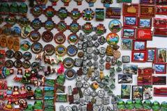 Parada del mercado en el pueblo de Machu Picchu Fotos de archivo libres de regalías