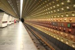Parada del metro, Praga Imagenes de archivo