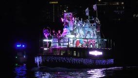 Parada 2017 do barco de Winterfest no Fort Lauderdale Florida vídeos de arquivo