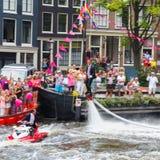 Parada 2014 do canal de Amsterdão Fotografia de Stock