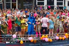 Parada 2014 do canal de Amsterdão Foto de Stock