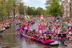 Parada 2017 do canal de Amsterdão Fotografia de Stock