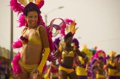 Parada do carnaval em Barranquilla, Colômbia Imagens de Stock Royalty Free