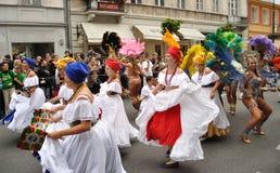 Parada do carnaval em Varsóvia fotografia de stock royalty free