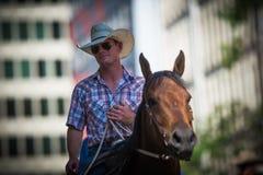 Parada 2018 do debandada de Calgary Foto de Stock Royalty Free