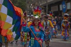 Parada do Dia da Independência de Bolívia Foto de Stock