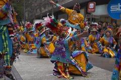Parada do Dia da Independência de Bolívia Fotografia de Stock