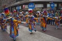 Parada do Dia da Independência de Bolívia Imagem de Stock