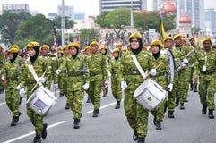 Parada do Dia da Independência de Malásia 57th Imagem de Stock