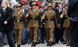 2015, parada do dia da relembrança, Londres Imagem de Stock