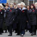 2015, parada do dia da relembrança, Londres Foto de Stock