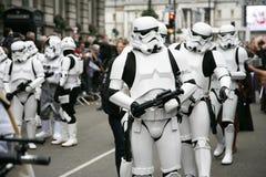 Parada do dia de ano novo em Londres Fotografia de Stock