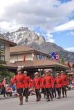 Parada do dia de Canadá em Banff Imagem de Stock