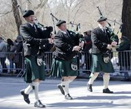Parada do dia do ` s de New York City St Patrick Foto de Stock