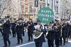 Parada do dia do St. Patrick em NYC imagem de stock