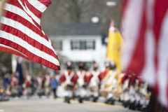 Parada do dia dos patriotas Fotografia de Stock