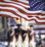 Parada do dia dos patriotas Foto de Stock