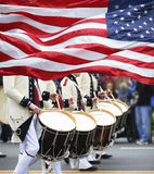 Parada do dia dos patriotas Imagem de Stock Royalty Free