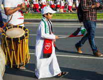 Parada do dia nacional dos UAE Fotografia de Stock