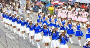 Parada do dia Panamá do indipendence dos majorettes Fotos de Stock Royalty Free
