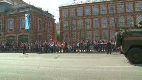 A parada do equipamento militar em Moscou, Rússia vídeos de arquivo