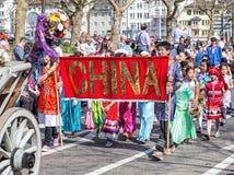 Parada do feriado da mola em Zurique, Suíça Foto de Stock Royalty Free