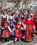Parada do feriado da mola em Zurique, Suíça Fotos de Stock Royalty Free