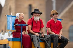 Parada do festival da cidade do circo fotografia de stock royalty free