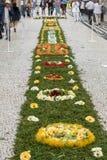 Parada do festival da flor de Madeira em Funchal na ilha de Madeira portugal Foto de Stock