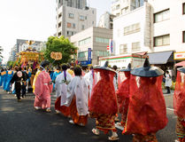 Parada do festival de Kanda fotos de stock royalty free