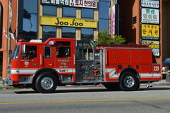 Parada 2015 do festival de Los Angeles Coreia do Firetruck Foto de Stock Royalty Free