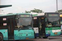A parada do ônibus na jarda SHENZHEN de SHEKOU Imagens de Stock Royalty Free