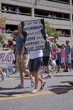 Parada do orgulho, junho 3, 2012. Salt Lake City, Utá Foto de Stock