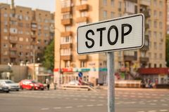 Parada do sinal de estrada Imagem de Stock