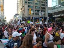 Parada do transporte em Toronto fotografia de stock royalty free