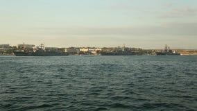 Parada dos navios de guerra Rússia video estoque