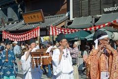 Parada durante o festival de Kawagoe Imagens de Stock