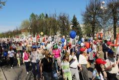 Parada em Victory Day May 9, 2016 fotografia de stock