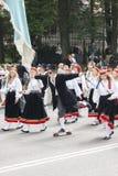 Parada Estoński krajowy pieśniowy festiwal w Tallinn, Estonia Obraz Royalty Free