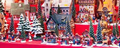 Parada europea del mercado de la Navidad Imagen de archivo