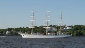 Parada grande da partida do aniversário do porto de Hamburgo filme