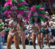 Parada grande de San Francisco Carnival 2014 no distrito da missão imagem de stock royalty free