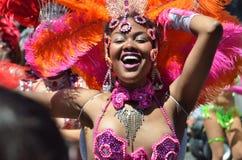 Parada grande de San Francisco Carnival 2014 no distrito da missão imagem de stock