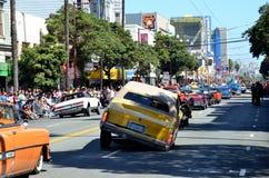 Parada grande de San Francisco Carnival 2014 no distrito da missão fotografia de stock